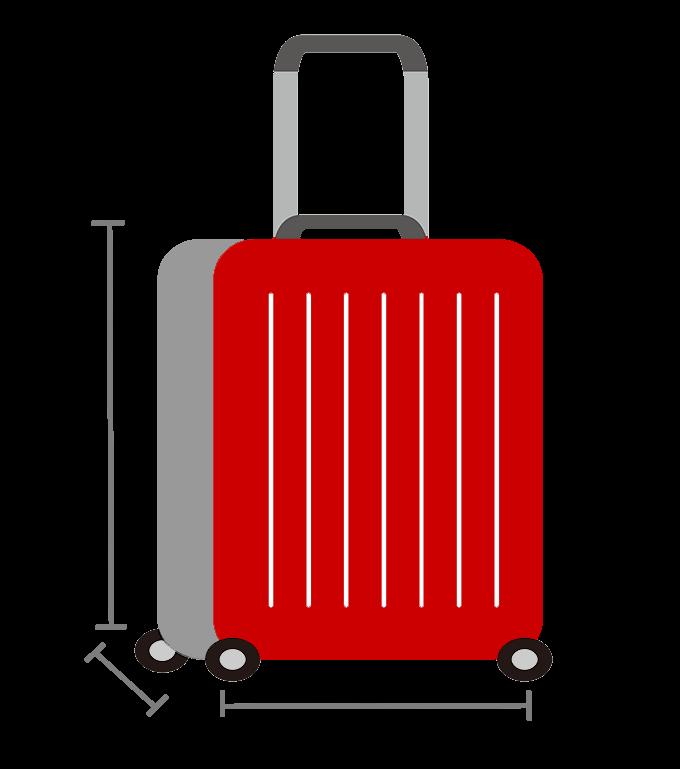 エアアジアの機内持ち込み手荷物(大)