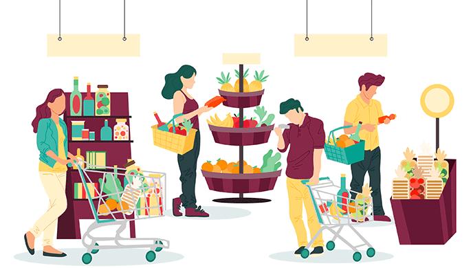 買い物リストを作ってショッピング