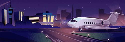 夜の便は時間を有効に使える